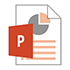 """PowerPoint icon with the text """"Accessible P P T"""" written below."""